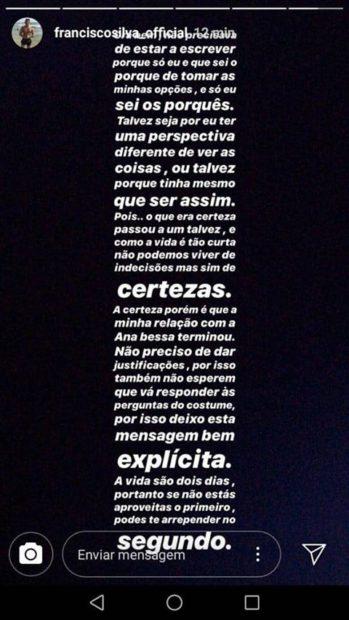 68488034 483920542435836 5761536823281057792 N Love On Top: Fim Do Noivado De Francisco Silva E Ana Bessa