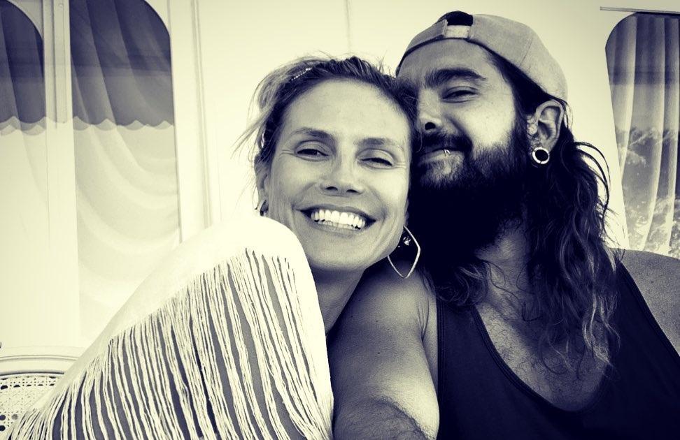 Heidi Klum Tom Kaulitz A Primeira Fotografia Do Casamento De Heidi Klum E Tom Kaulitz
