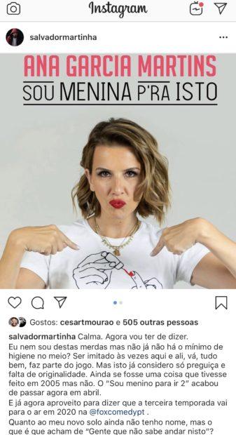 Salvador Martinha Pipoca Mais Doce Polémica! 'Pipoca Mais Doce' Acusada De Utilizar Ideia De Salvador Martinha