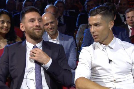 messi cristiano ronaldo Messi em momento de tensão com jornalista amigo de Ronaldo torna-se viral