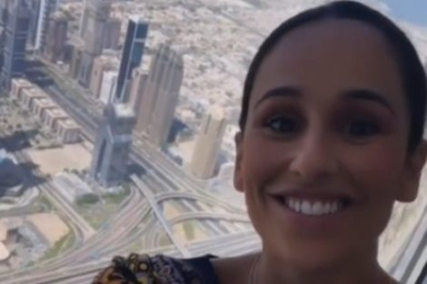 Rita Pereira Burj Khalifa Dubai Rita Pereira Maravilhada Após Visitar O Prédio Mais Alto Do Mundo