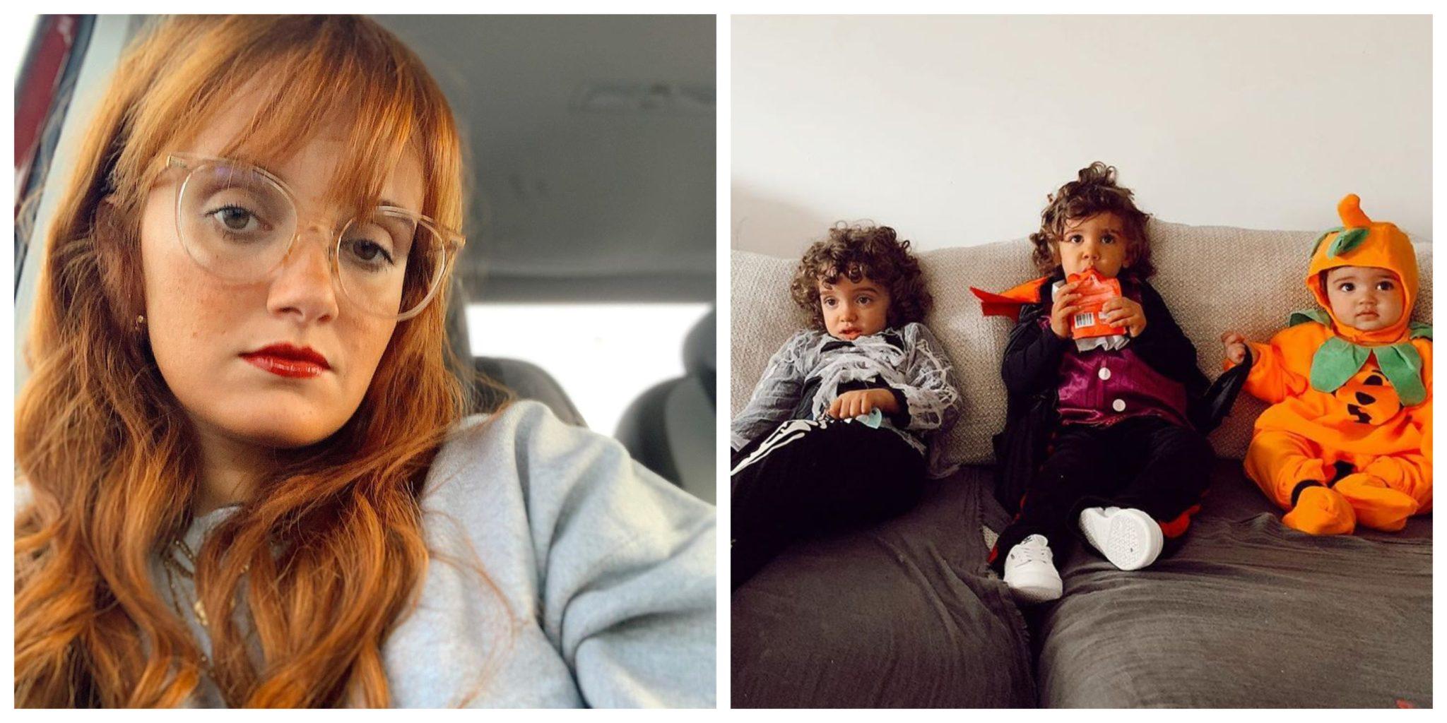 Carolina Deslandes e filhos