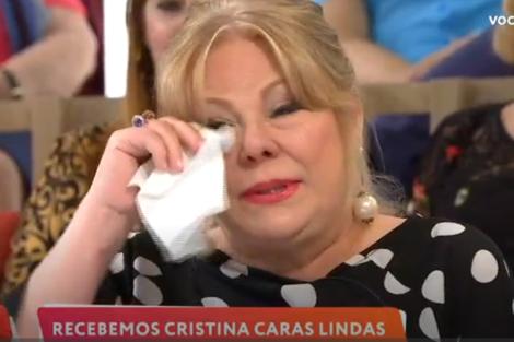 Cristina Caras Lindas Cristina Caras Lindas Em Lágrimas No 'Você Na Tv'