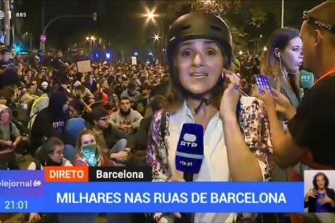 Rtp1 Jornalistas Portugueses Obrigados A Usar Capacetes Para Se Protegerem