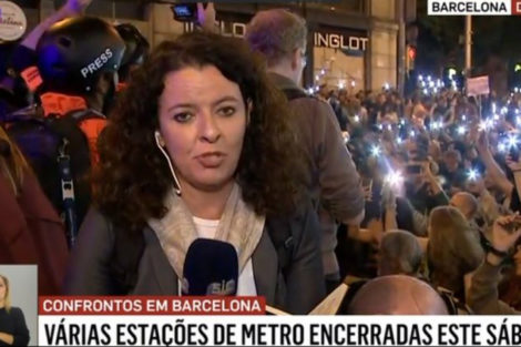 Sic 1 Jornalistas Portugueses Obrigados A Usar Capacetes Para Se Protegerem