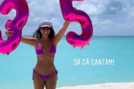 Sofia Ribeiro 1 Sofia Ribeiro Comemora 35º Aniversário Numa Praia Paradisíaca E Privada