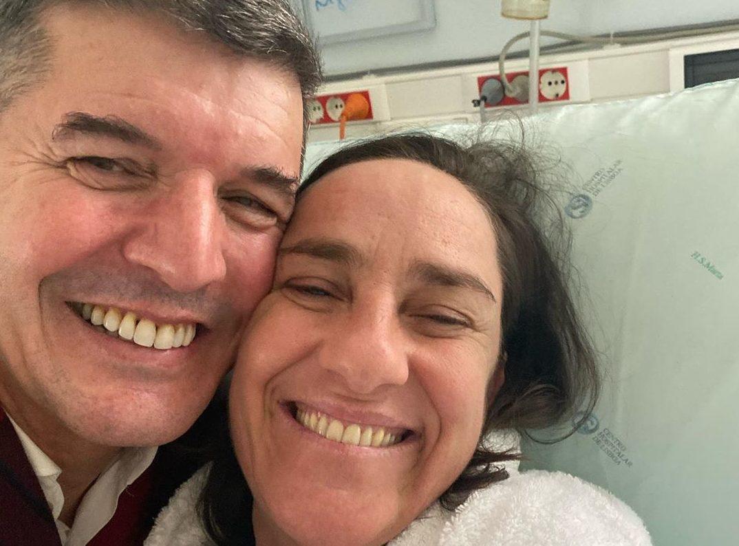 Joaobaiao E Mariarueff E1574957883880 Maria Rueff Recebe A Visita De João Baião No Hospital: &Quot;Mulher De Fibra&Quot;