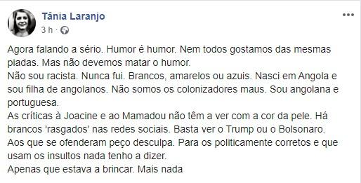 Tania Laranjo Tânia Laranjo Volta A Defender-Se Das Críticas: &Quot;Não Devemos Matar O Humor&Quot;