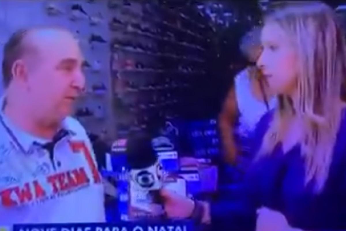Cassia Carioca Globo Repórter Desmaia Em Direto Durante Uma Entrevista Na Rua