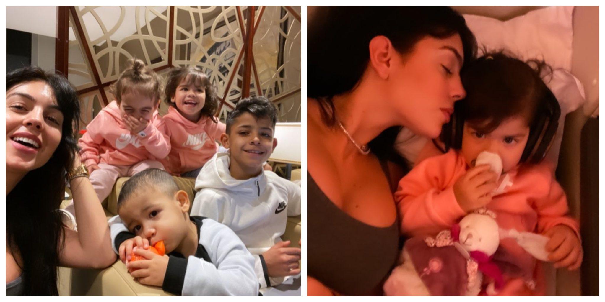 Georgina E Filhos Scaled &Quot;Felizes&Quot;. Georgina Rodriguez De Viagem Para A Noite De Natal Com Os Filhos