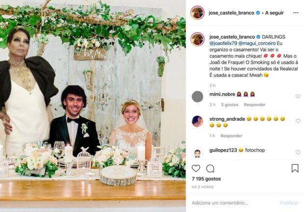 Jose Castelo Branco Joao Feliz Margarida Corceiro José Castelo Branco Oferece-Se Para Organizar Casamento De João Félix E Margarida Corceiro