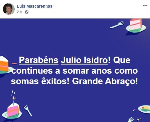 Luismarcaranhas Parabéns Júlio Isidro! Famosos Felicitam Apresentador Pelo Seu 75.º Aniversário