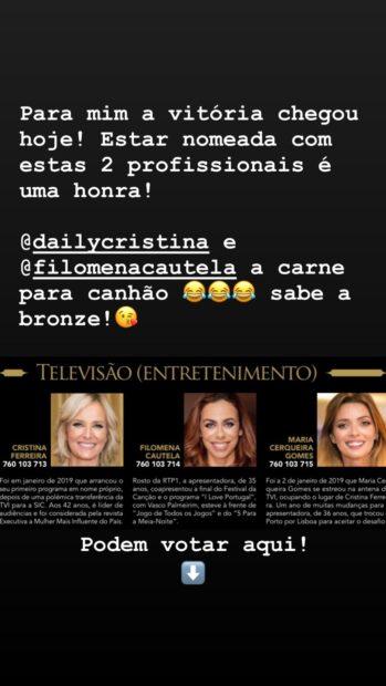 Maria Cerqueira Gomes 2 Maria Cerqueira Gomes Deixa Mensagem A Cristina Ferreira Após Nomeação