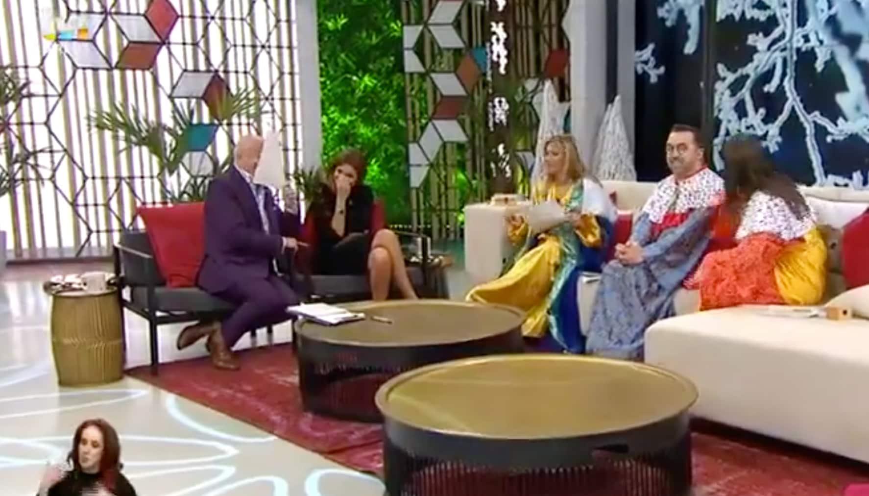 Voce Na Tv Cinha Jardim 'Goza' Com José Castelo Branco No 'Você Na Tv'