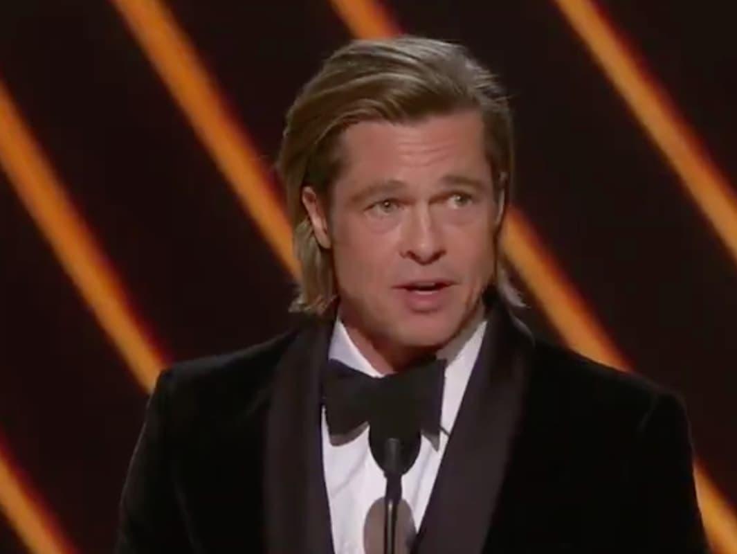 """brad pitt Emocionado, Brad Pitt dedica Óscar aos filhos: """"Dão cor a tudo o que faço"""""""