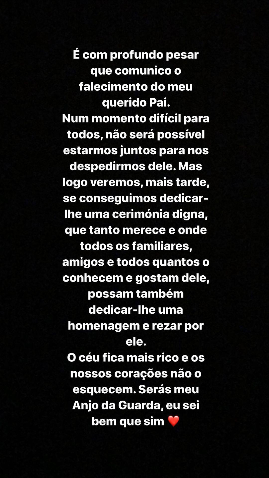 Claudia Jacques Pai Cláudia Jacques Está De Luto: &Quot;O Céu Fica Mais Rico&Quot;