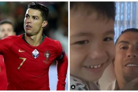 Cristiano Ronaldo E Filho Mateo Cristiano Ronaldo Partilha Vídeo Divertido Com Mateo: &Quot;Tal Pai, Tal Filho&Quot;
