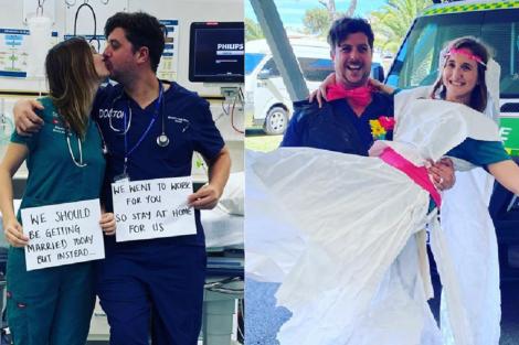 Casal Australia Covid-19: Médicos Passam O Dia Do Casamento A Trabalhar Nas Urgências Do Hospital
