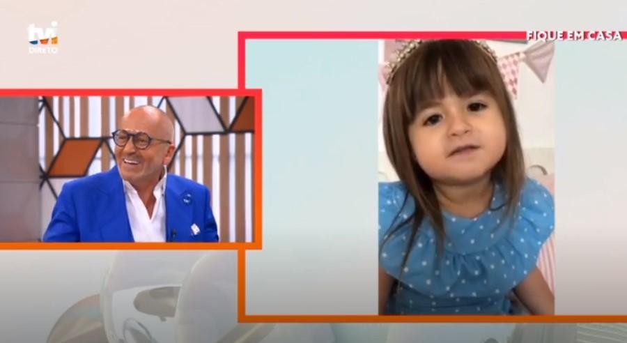 Goucha Crianca Menina Que &Quot;Rezou&Quot; A Deus Pelo Fim Da Covid-19 Envia Mensagem Para Manuel Luís Goucha