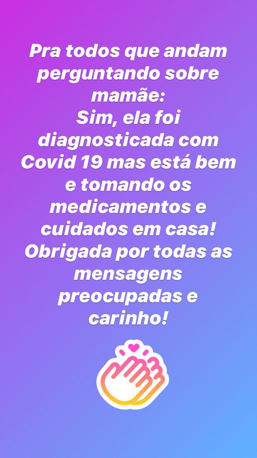Juliana Paes Mae Mãe De Juliana Paes Testa Positivo À Covid-19