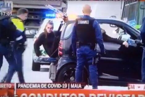 Smart Maia Cmtv Condutor Gnr Fiscalização Na Maia! Condutor Sem Carta Conduz Smart Com Um Total De Quatro Pessoas A Bordo