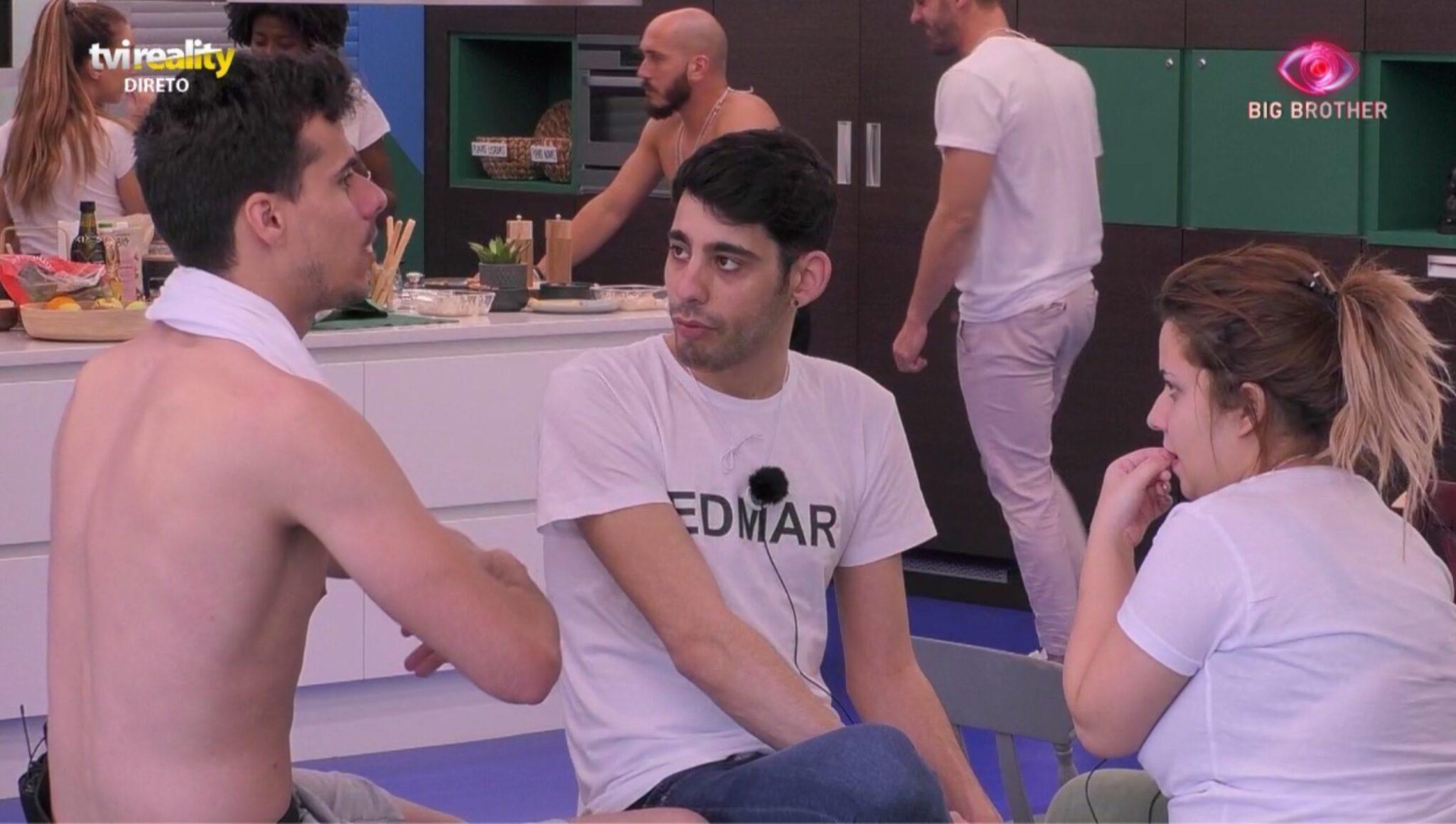 Edmar Pedro Alves E Sandrina Scaled 'Big Brother 2020'. Pedro Alves Esclarece A Questão Da 'Homofobia' A Edmar