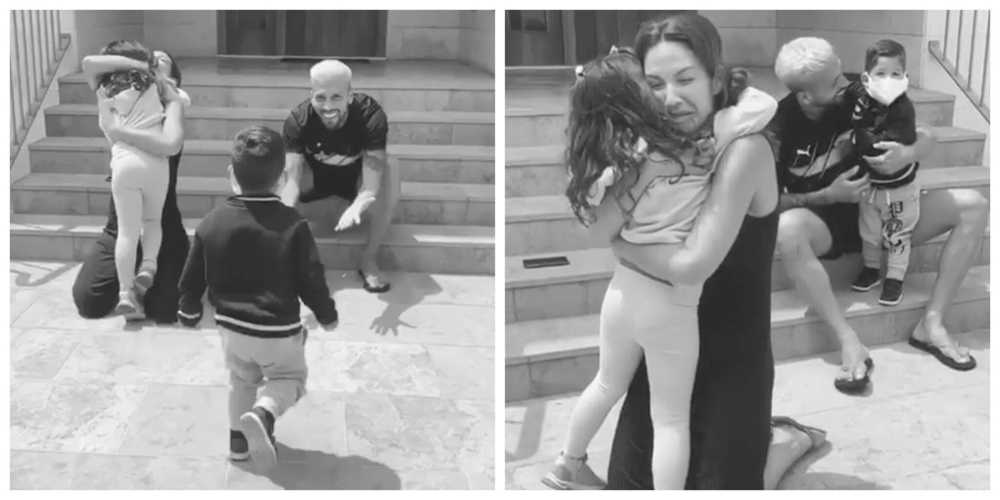 Ezequiel Garay Mulher Filhos Scaled Garay E A Mulher Voltam A Abraçar Os Filhos Dois Meses Depois. Veja O Vídeo Emocionante