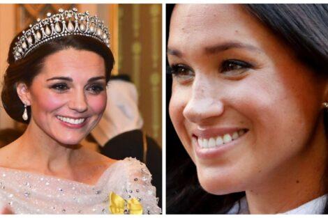 Kate Meghan Joias Princesa Diana Kate E Meghan Markle Usam Várias Joias Da Princesa Diana