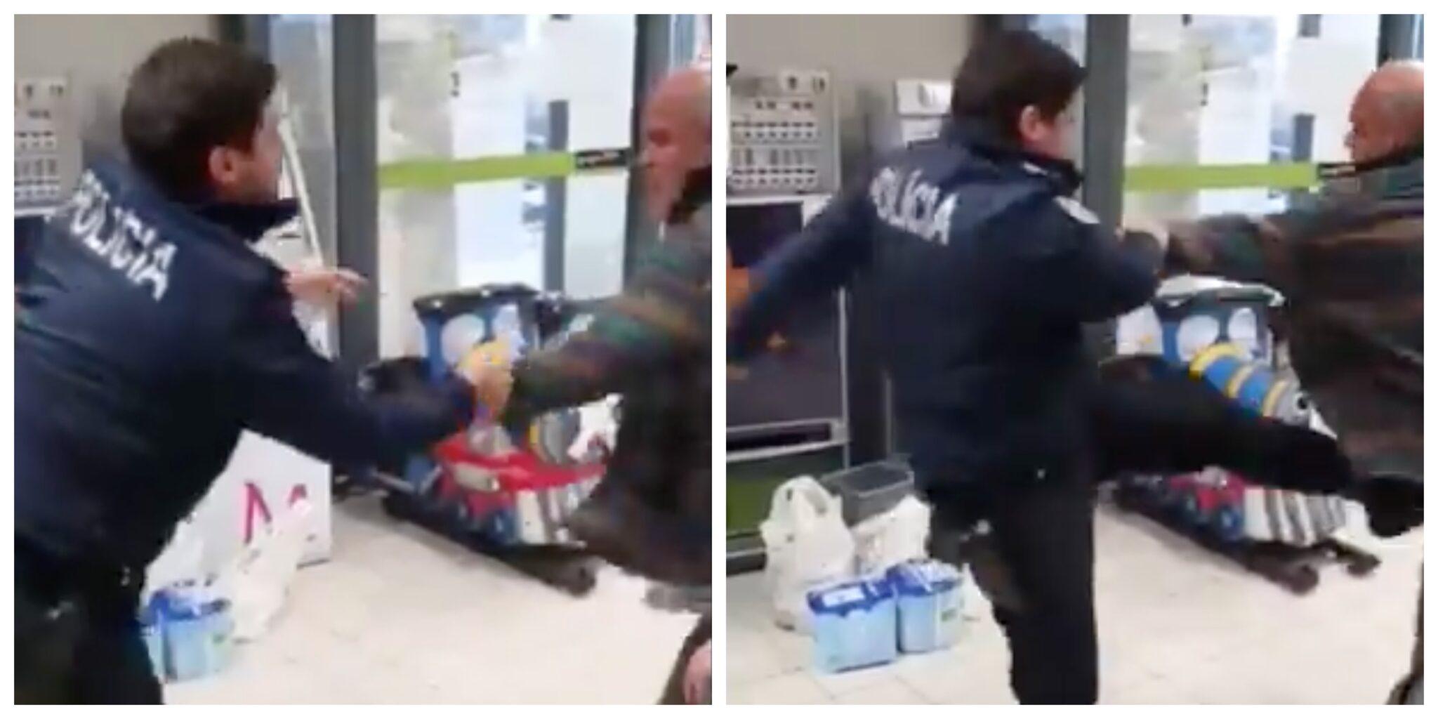 Psp Agressao Cidadao Scaled Vídeo: Agente Da Psp Agride Homem De 55 Anos Em Supermercado