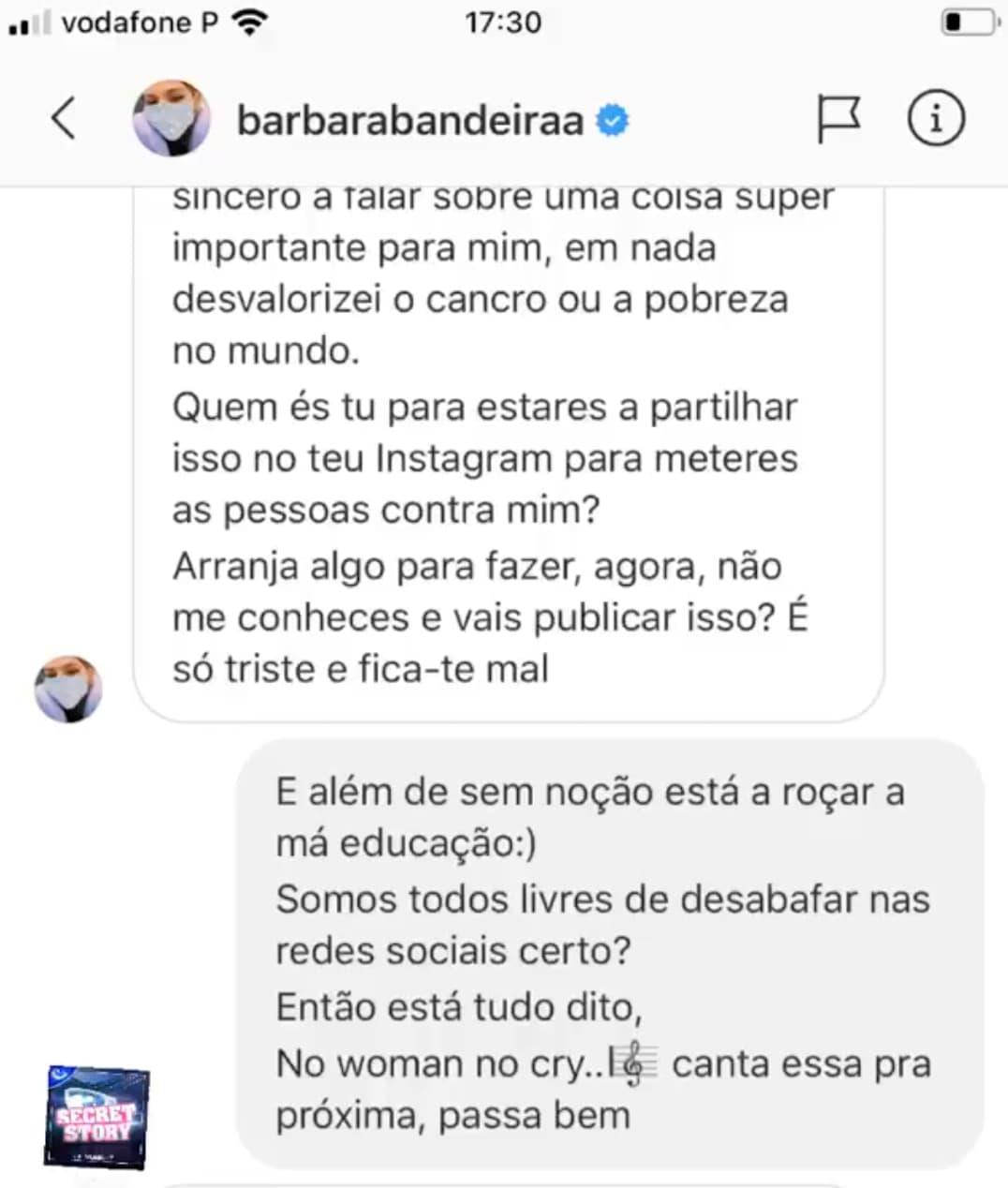 Barbara Bandeira Debora Picoito 1 Bárbara Bandeira Chora Com Adiamento Do Concerto, É Arrasada E Responde! Veja As Mensagens