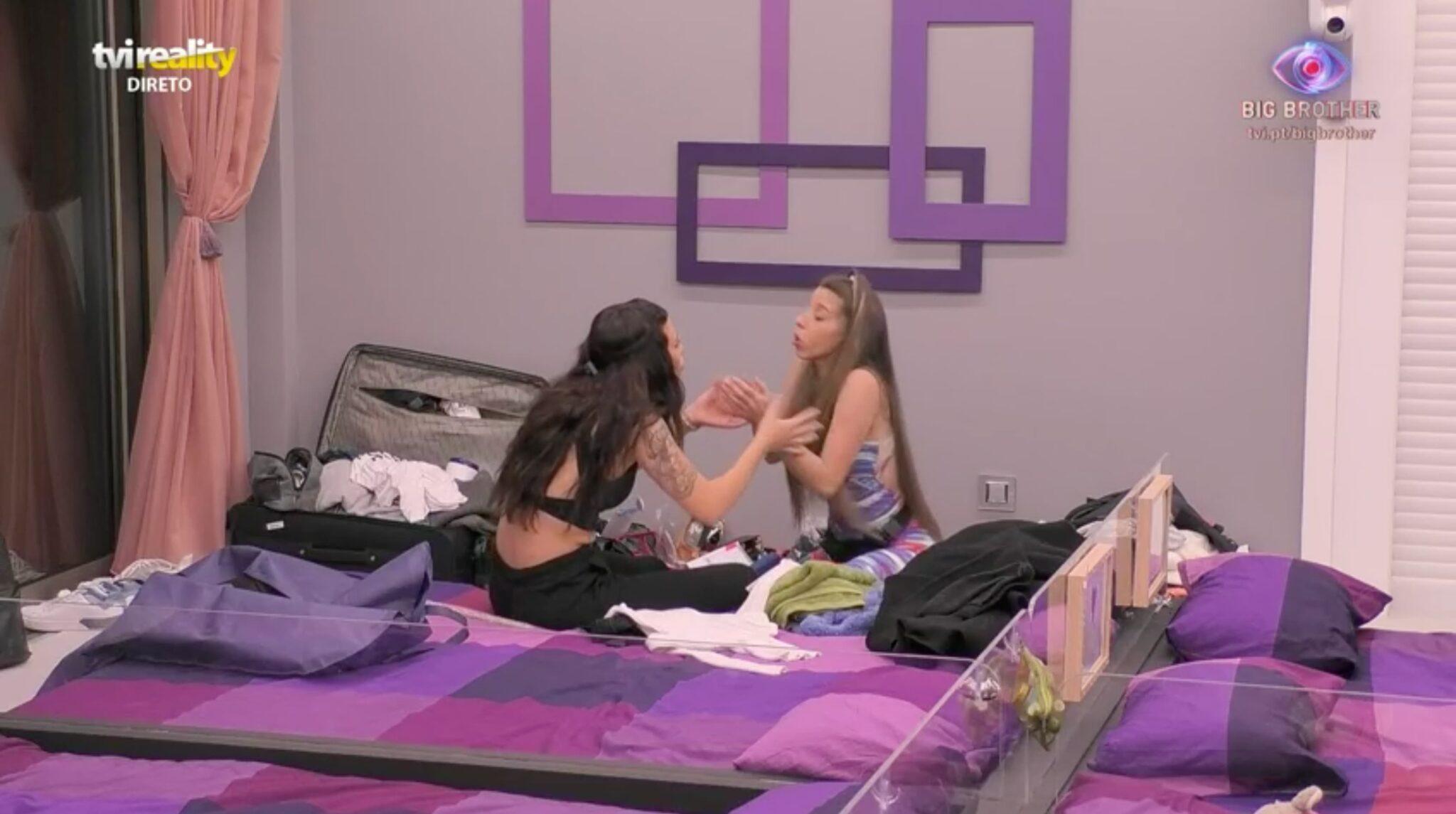 Big Brother Jessica Sonia Scaled Big Brother: Clima Azeda Entre Jéssica E Sónia