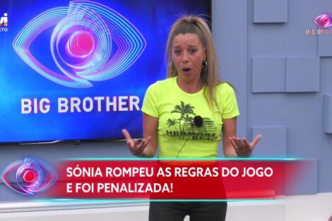 """Big Brother Sonia 1 Sónia Nomeada Pelo Big Brother: """"Agora Levo Um Estalo Destes. Isto Para Mim É Telenovela"""""""
