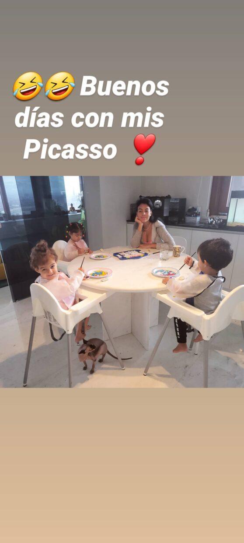 Georginagio E Filhos Georgina Rodríguez Orgulhosa Nos Seus &Quot;Picassos&Quot;