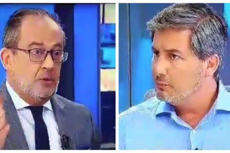 josealbertocarvalho brunodecarvalho Ânimos exaltados na entrevista de José Alberto Carvalho a Bruno de Carvalho