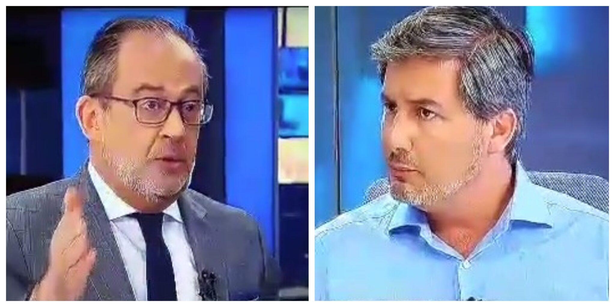 josealbertocarvalho brunodecarvalho scaled Ânimos exaltados na entrevista de José Alberto Carvalho a Bruno de Carvalho