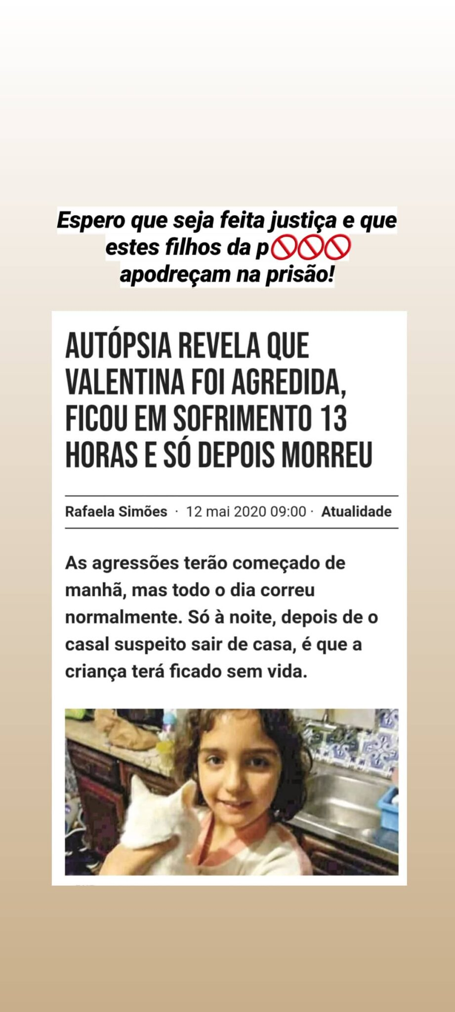 Luis Borges Valentina Scaled Caso Valentina. Luís Borges Revoltado: &Quot;Que Estes Filhos Da P*** Apodreçam Na Prisão!&Quot;