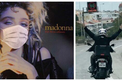 Madonna Lisboa Madonna Mostra-Se A Andar De Mota Em Lisboa Depois De Ter Sido Infetada Com Covid-19