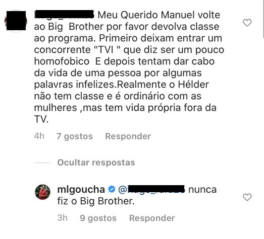 Manuel Luis Goucha Big Brother &Quot;Volte Ao Big Brother, Devolva Classe Ao Programa&Quot;, Pede Fã De Goucha. Apresentador Já Reagiu