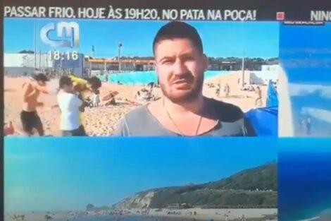 meme do caixao cmtv 'Meme do caixão' é recriado por jovens na praia em pleno direto da CMTV