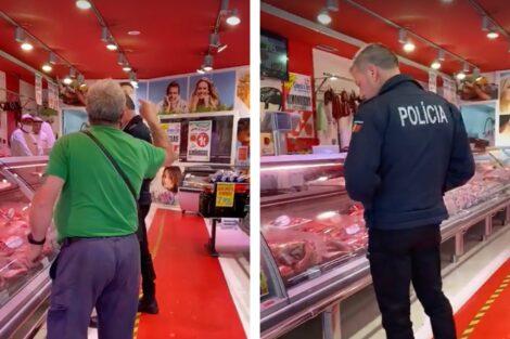 Policia Talho Sem Mascara Scaled E1588938503544 Vídeo: Agente Da Psp Vai Às Compras Sem Máscara E É Confrontado Por Cliente