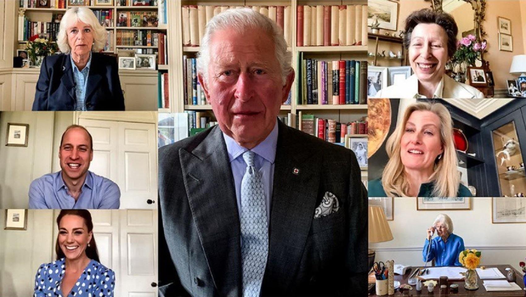 Realeza Britanica Família Real Britânica Junta-Se Em Videochamada Por Uma Boa Causa