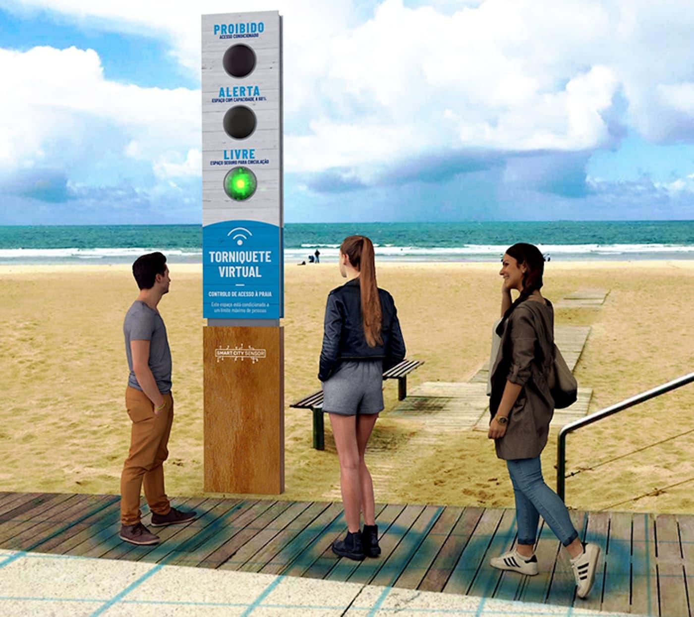 Semaforo Praia Proibido, Alerta E Livre. Este É O Semáforo Que Vai Estar Nas Praias