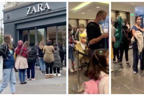 Zara Franca Lojas Em França Reabrem E Geram Filas (Sem Distanciamento) De Centenas De Metros