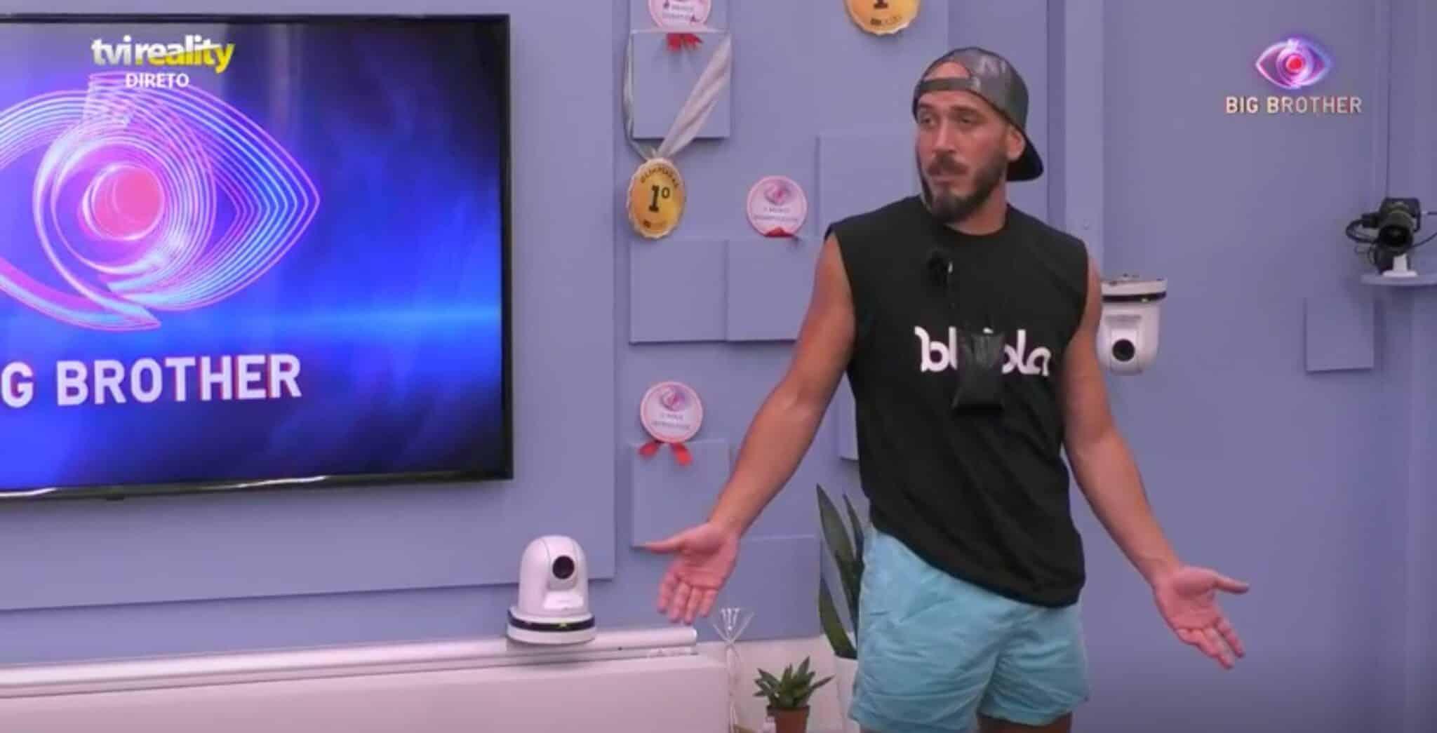 """Big Brother Daniel Monteiro 1 Scaled Big Brother. Daniel Monteiro Perde A Paciência Com Os Colegas: """"O Meu Cérebro Nem Consegue Pensar"""""""