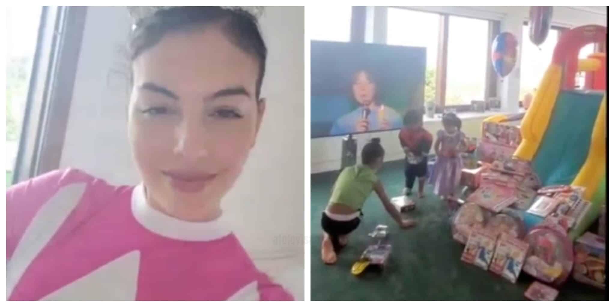 Georgina Rodriguez Filha Scaled Georgina Rodríguez Mostra Novas Imagens Da Festa Dos Gémeos Eva E Mateo