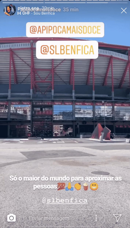 Pedro Soá Pipoca Mais Doce Benfica Pedro Soá &Quot;Faz As Pazes&Quot; Com Pipoca Por Causa Do... Benfica!