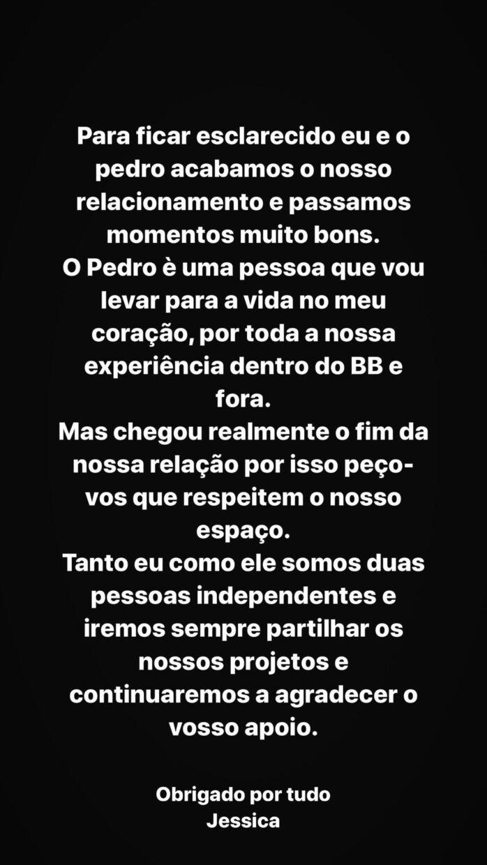 Jessica Nogueira Comunicado