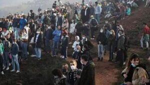 Multidão na Nazaré