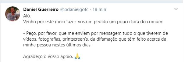 Daniel Guerreiro Difamação
