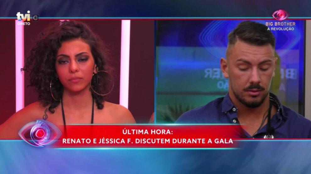 Jessica Renato Discutem Gala Big Brother
